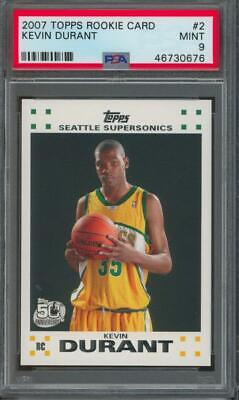 2007 Topps #2 Kevin Durant RC Rookie Mint PSA 9