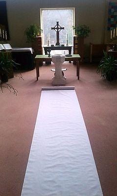 200ft Deluxe White Fabric Wedding Aisle Runner