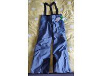 BNWT Snowboard/Ski Nevica Demin-looking Salopettes/Trousers - Size 14L