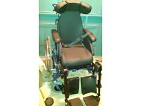 6 month old Aktiv x 7 recliner manual wheelchair with neck support. Excellent condition. £1000 new