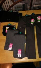 Girls School Trousers, Age 5 - 6yr All New