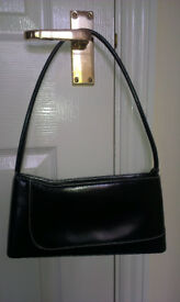 Small smart black shoulder bag