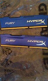 8gb DDR3 1600mhz hyperx 2x4gb