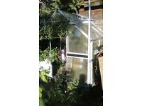 "Aluminium Greenhouse, Free to Collector/Dismantler, 7'6"" x 6'"