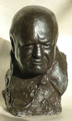Winston Churchill Signed Nemon Spirit Of The Blitz Bust