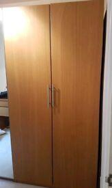 Ikea oak veneer double wardrobe