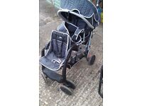 Tandem 'Babysmile' Pushchair and Pram (Twin-Seater) - Good Condition