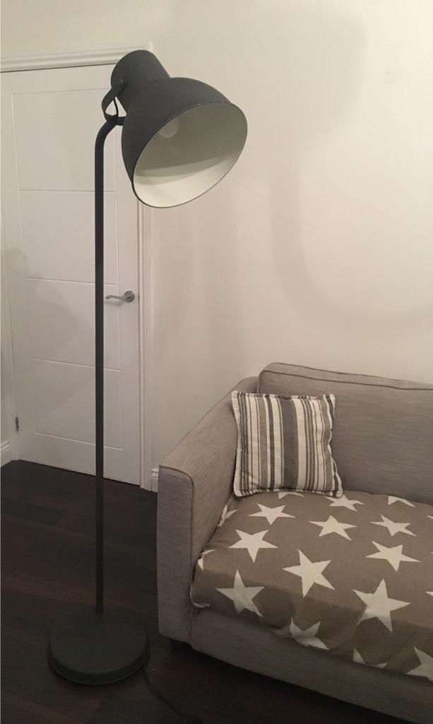 Ikea Hektar Dark Grey Oversized Spotlight Floor Lamp In