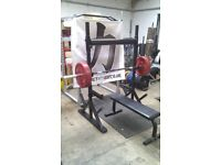 Strength Shop Adjustable Yoke Training Station With Bench Strongman Crossfit