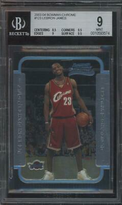 2003 Bowman Chrome #123 LeBron James RC Rookie Mint BGS 9