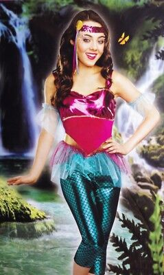 Teen Halloween Outfits (Womens SASSY MERMAID Halloween Costume Outfit Juniors Adult Teen Small 5 7)
