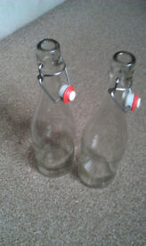 2 x Glass Bottle 75cl with swing top stopper