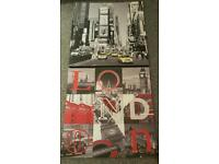 Canvas Pictures Wall art x 2