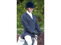 """CALDENE Ladies Smart Navy Showing Competition Show Jacket - 30"""" / Size 8 (& matching tie!)"""