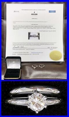 VS1 BEST CLARITY .56 CARAT Brilliant Cut DIAMOND RING & Wedding SET 14K GOLD Set Brilliant Diamond