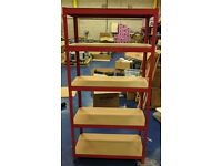 Used Red Racking (Brilliant Condition) 16 bays available
