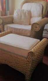 Luxury 5 piece fully woven cane/bamboo suite