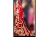 Asian Wedding Dress/ Lengha/bridal ''Less than 1/2 price''