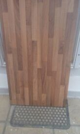 38mm B&Q oak woodmix round edge kitchen worktop.