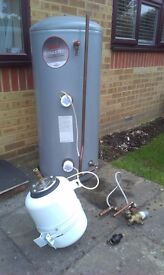 Stainless Steel Hot Water Cylinder kit complete
