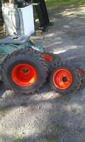 SET OF 4 INDUSTRIAL TIRES FOR KIOTI CS2410 SUB-COMPACT TRACTOR