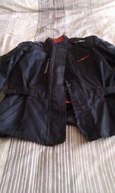 Ladies motor bike jacket and trousers