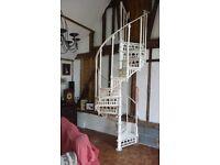 Spiral staircase. Vintage, cast iron, original.