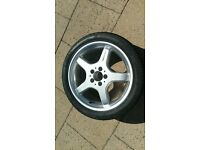 """Mercedes 18"""" AMG Alloy with Pirelli 245 40 18 Tyre"""