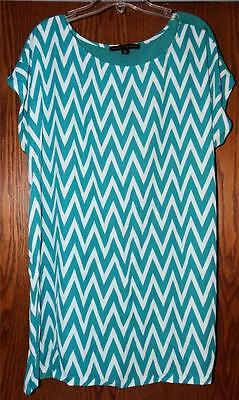 New   Affinity For Knits Mixed Media Cap Sleeved Boat Neck Tunic Tee    1X