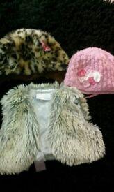 Girls 1 - 2 years hat and waistcoat