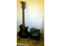Marshall guitar & amplifier + pedal effects combo
