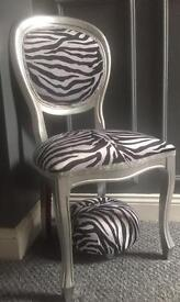 chair in stunning zebra