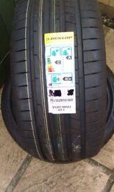Pair of Dunlop Sport Maxx Tyres