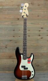 Fender American Professional Precision Bass 3 Colour Sunburst - Brand New