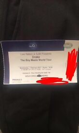 Drake ticket: golden circle standing ticket 1st February at the 02 arena London