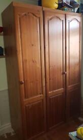 Solid Wooden Wardrobe ( Double and single)