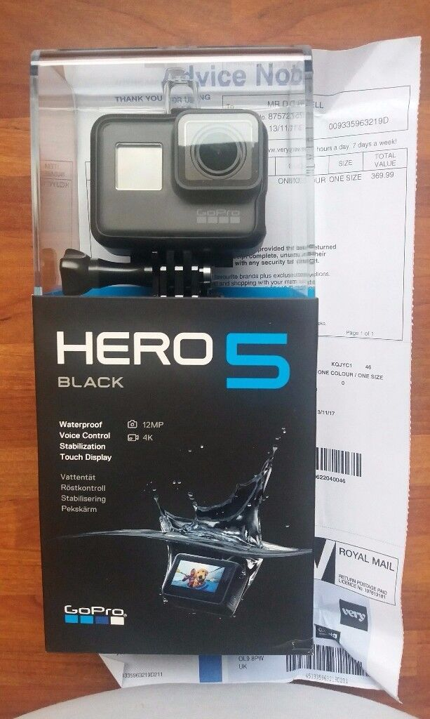 Go pro hero 5 action cam .brand new in box never opened or used