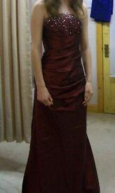 Burgundy Prom Dress - Size 6/8