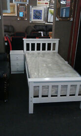 SOLID WOOD PINE BEDS - MATTRESSES - STRONG BED SLATS SO011