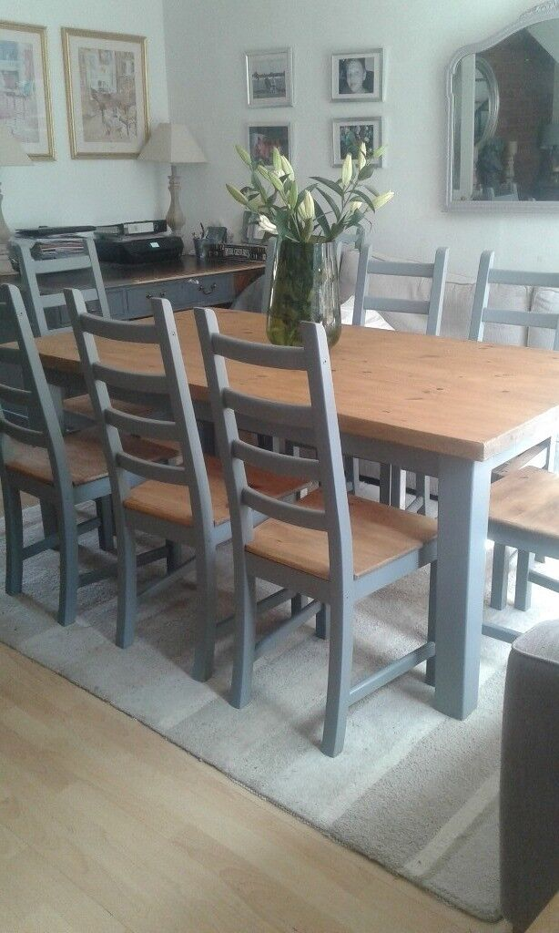 French Farmhouse Dining Table Chairs