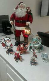 Santa Claus and decorative xmas items