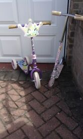 2 x KIDS SCOOTERS