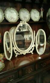 Vintage three dressing table mirror