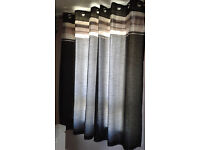 Fully lined black/silver/cream curtains