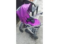 oyster push chair purple good condition