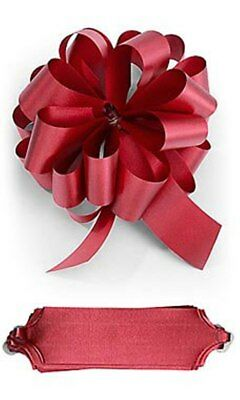 25 RED SATIN PULL BOWS GIFT WRAP SUPPLIES Christmas Gifts Wedding Wreaths