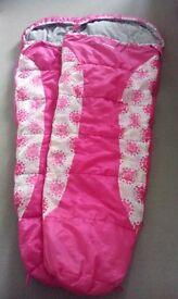 Girls Pink Trespass Sleeping Bags x 2