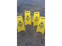 4 x Barrier Safety Signs
