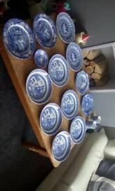 Spode China Collectors Pieces Joblot Blue Room Willow + Italian + Greek
