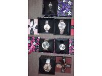6 x New watches Ladies and Mens in display boxes